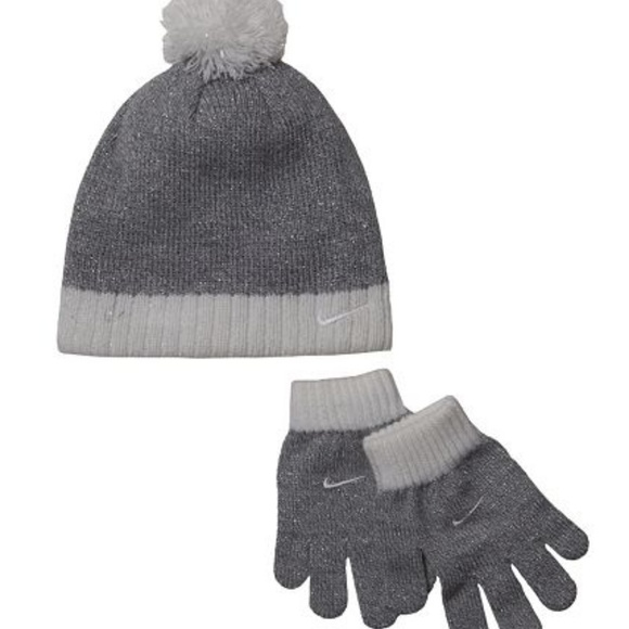 HP Nike Hat   Gloves Set Winter Beanie Girls 4-6 2936ff28e0c